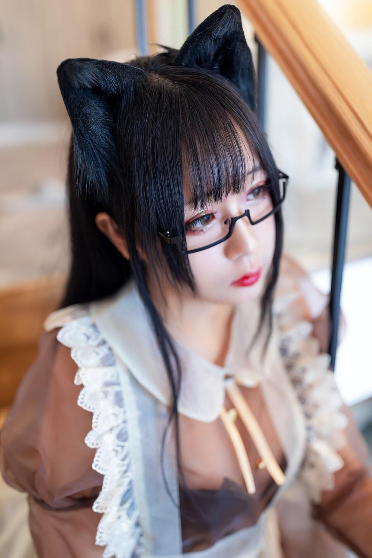 [喵糖映画] VOL.125 日奈娇 棕色透明女仆 [47P] -第1张
