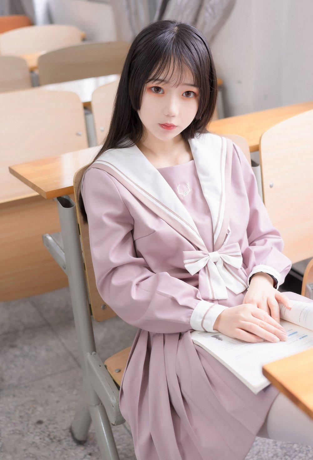 [喵糖映画] VOL.074 粉色JK小姐姐 [49P] -第1张