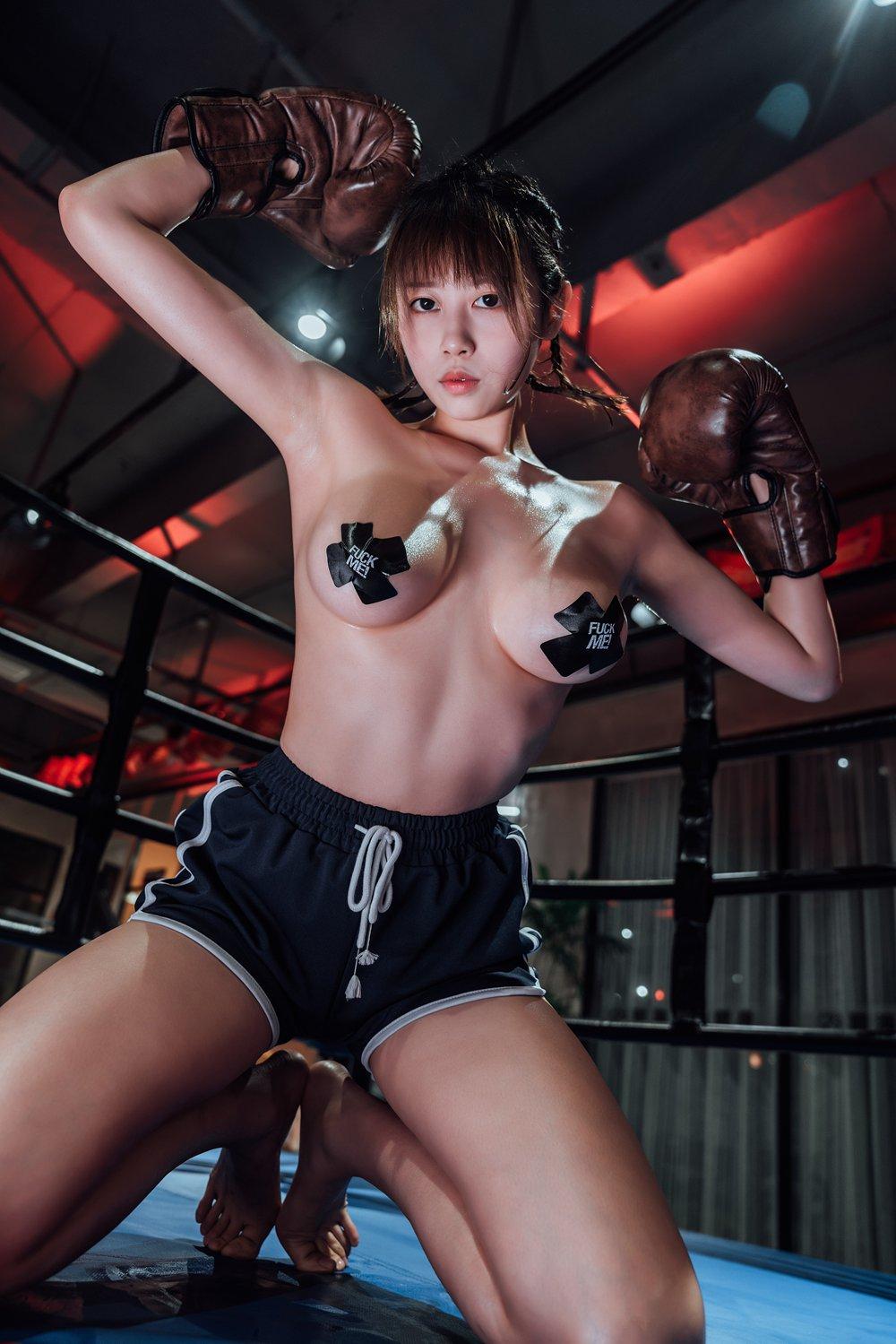 奈汐酱 - 女拳击手 [35P]